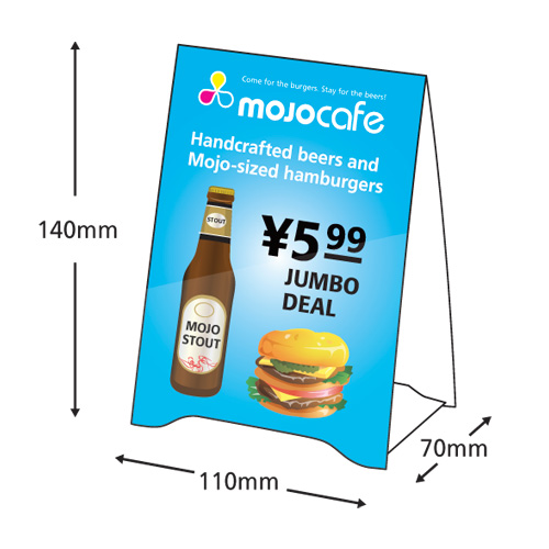 Tent Cards Top Worth Advertising LLC Dubai UAE - Table tent card printing